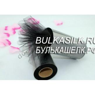 Тюль черный мелкая сетка 0,5 м * 15 см