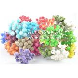 Ягоды диам 12 мм с микробис. цветные 10 шт ( 5 провол 15 см)