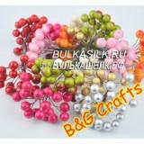 Ягоды цветные 10 шт (5 провол по 15 см)