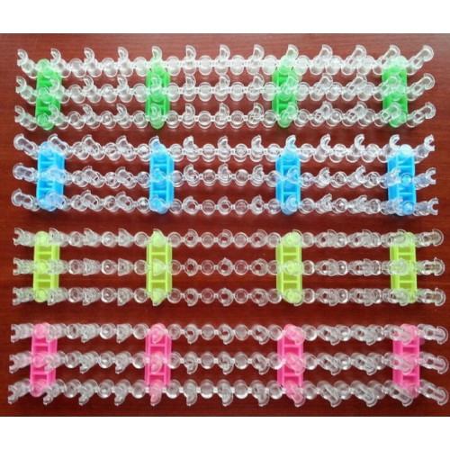 Схемы плетения браслетов из резинок на станке и без