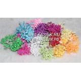 Тычинки с пенопласт шариками 100 головок цвет в ассорт
